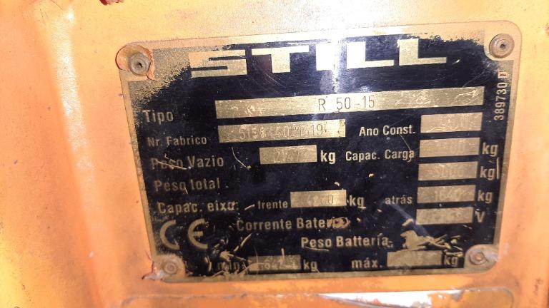 Empilhadeira Elétrica 3 Rodas Still R50 2002