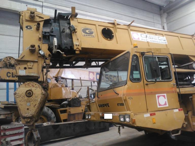 Guindaste Grove Deutz V8 AT880 Capacidade 80 Ton. Ano 1989