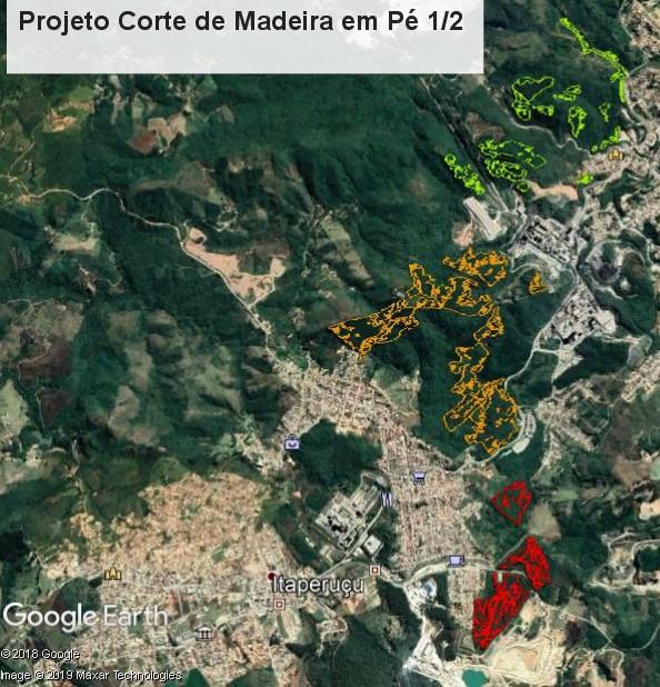 Aprox. 67.954,10 m3 de Pinus e Eucalipto em Pé em uma área de 138,34 ha.