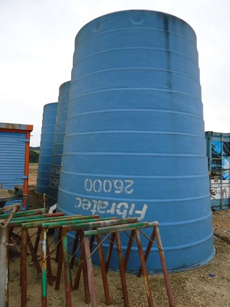Caixas d'água em Fibra Fibratec Capacidade de 26.000 Litros