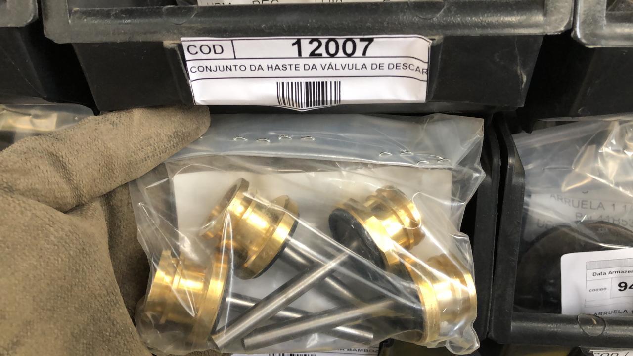 Conjunto da haste da válvula de descarga aprox. 29 peças