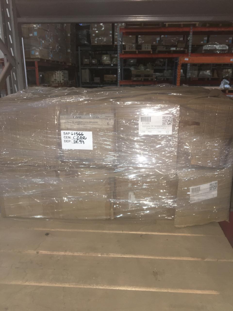 Estopa de gesseiro(juta cardada) estopex aprox. 603 unidades