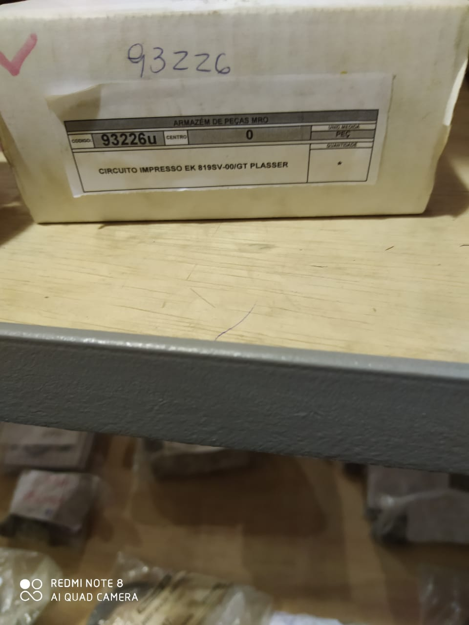 Circuito impresso ek 819sv-00/gt plasser aprox. 1 peça