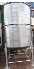 Tanque Misturador em Aço Inox 304 Vol. 9000 litros