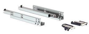Trilho Invisível Soft Closing 350mm Acabamento Zincado Branco Soprano