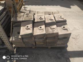 Placas de Manganês P/ Moinho e Forno Aprox. 19500kg