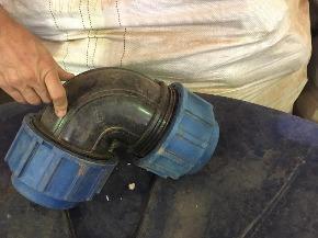 Lote de Curva de Compressão PEAD 45°e 90º 110 mm