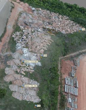 Entulho de Concreto e Restos de Materiais Aprox. 1860 ton