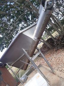 Tanque de Movimentação para Peneirar com Rosca Sem Fim em Inox 304