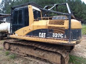 Harvester Florestal CAT 320C com Cabeçote LogMax 7000