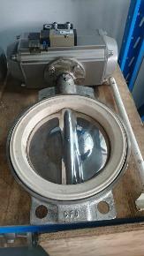 """Válvula Borboleta Inox 8"""" com Atuador Pneumático"""
