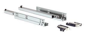Trilho Invisível Soft Closing 400mm Acabamento Zincado Branco Soprano