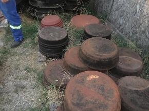 Lote Tampão CAP Ferro Fundido