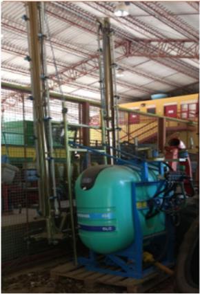 Pulverizador 600 lts de Barra Montana