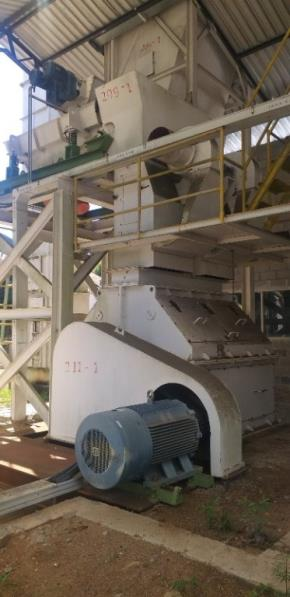 Sistema de Moagem Grossa para Fabricação de Farelos (Biomassa, cereais...)