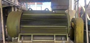 Motor de Acionamento: 4 pólos 380 Volts Fator de potência 0,9 - 60Hz 355KW
