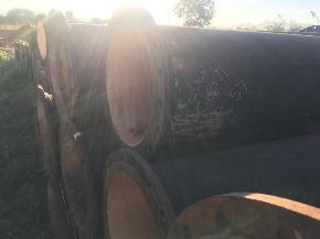 Lote de Tubo e Ferro Fundido FoFo flange x flange 500 mm (curto) Aprox. 3,4ton