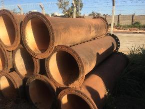 Lote de Tubo de Ferro Fundido FoFo flange x flange 450 mm (curto) Aprox. 2ton