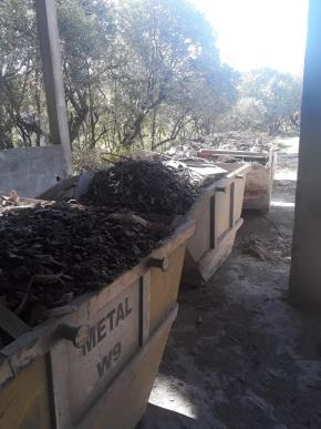 Sucata de Ferro com Impurezas Aprox. 150 ton a gerar.