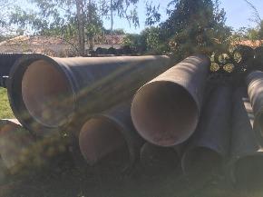 Lote de Tubo de Ferro Fundido (FoFo) ponta x bolsa Aprox. 7,2ton
