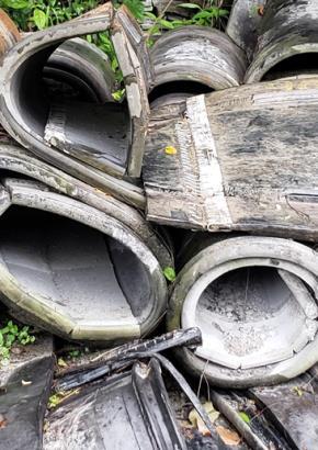 Sucata de Correias Transportadoras Com Trama de Aço Aprox. 15Ton.